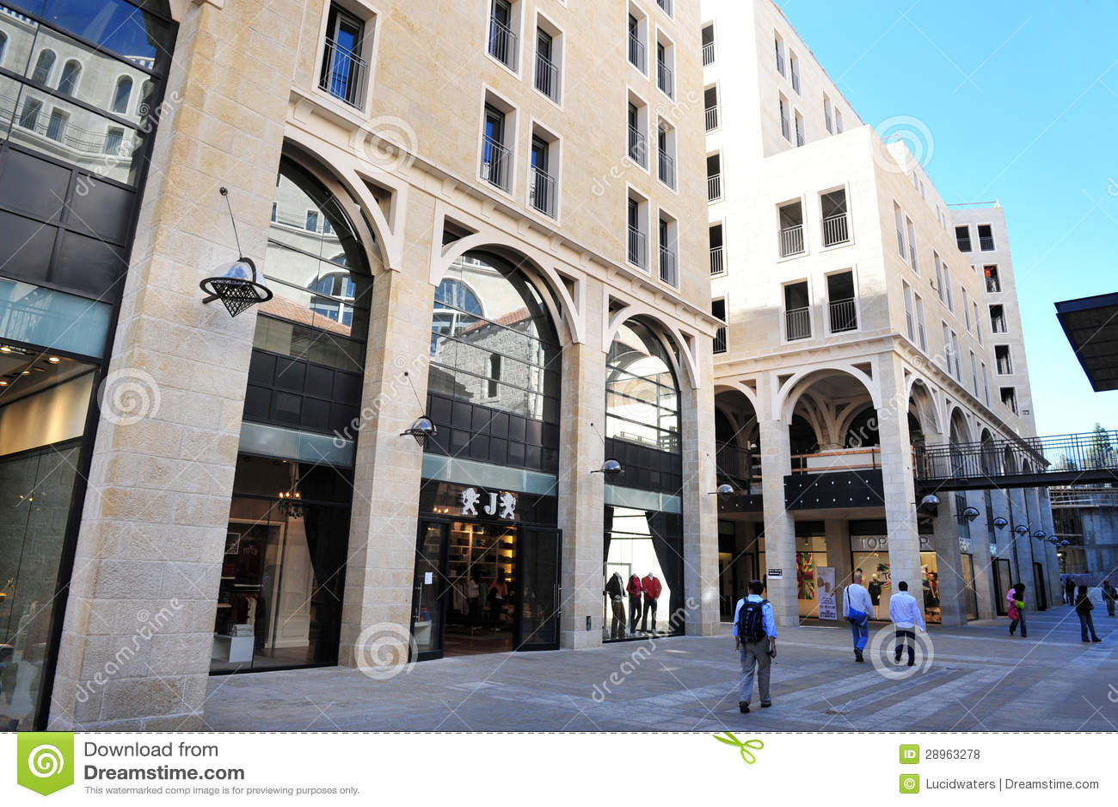 Mamilla zakupy centrum handlowe w Jerozolimski Izrael