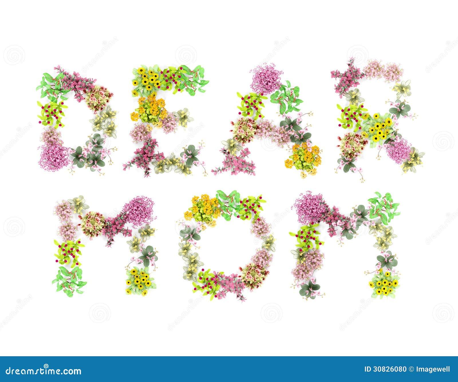 Mamma dei fiori di parole cara