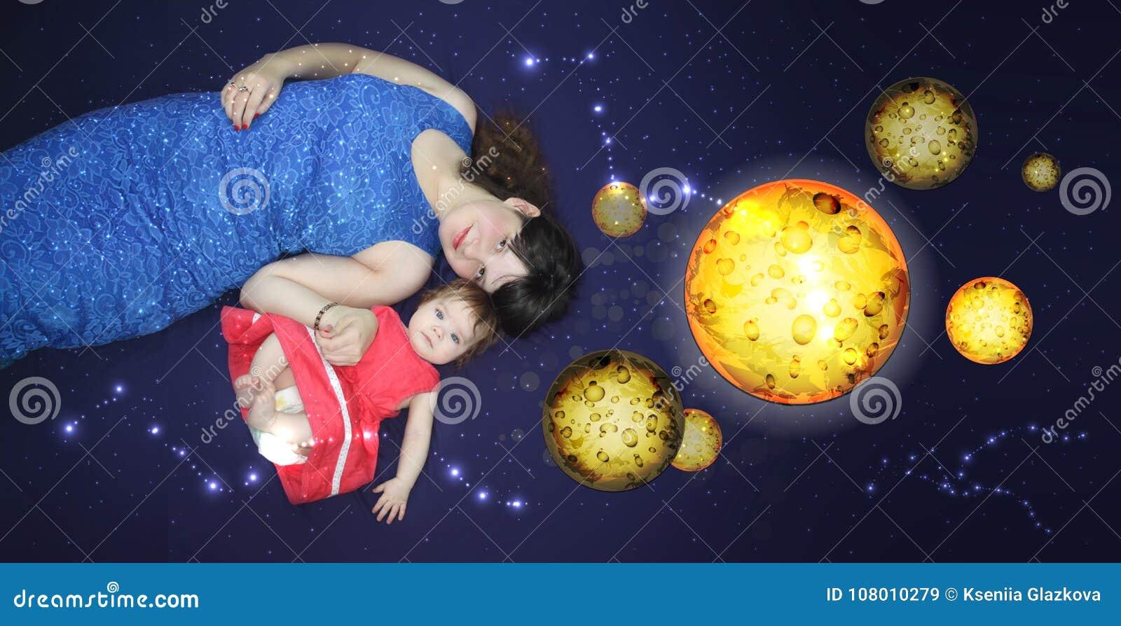 Mamma en baby Een het houden van lied voordien