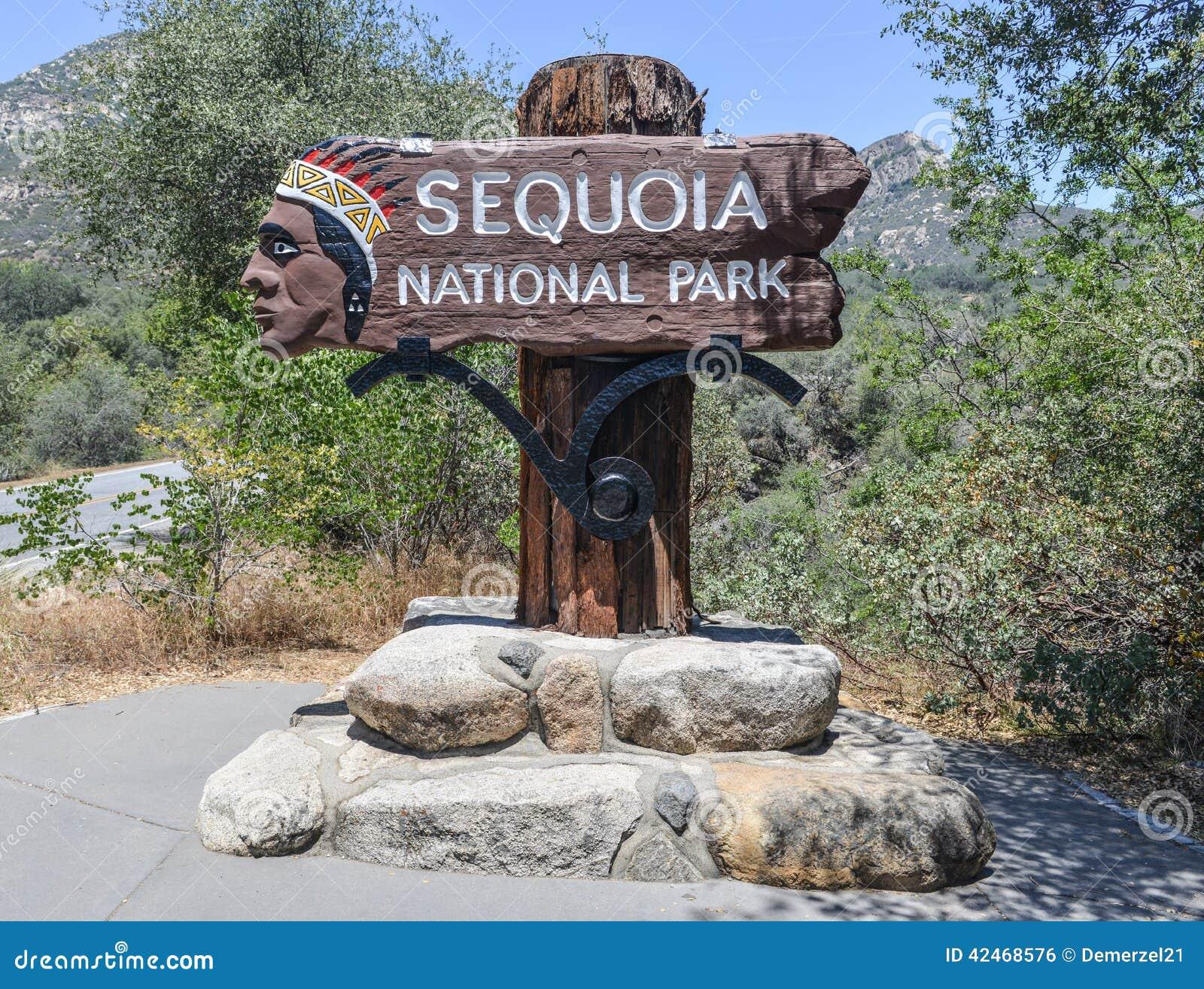 Mammutbaum-Nationalpark-Zeichen