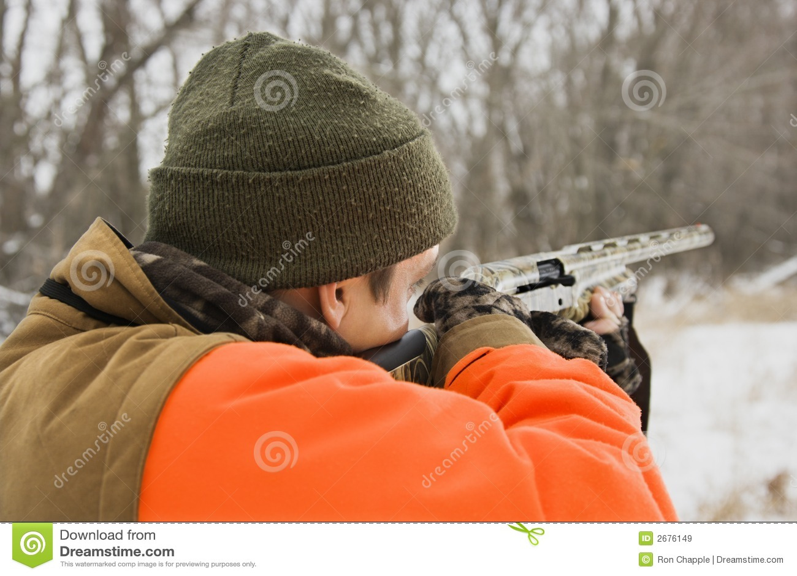Man Aiming Shotgun. Royalty Free Stock Images - Image: 2676149