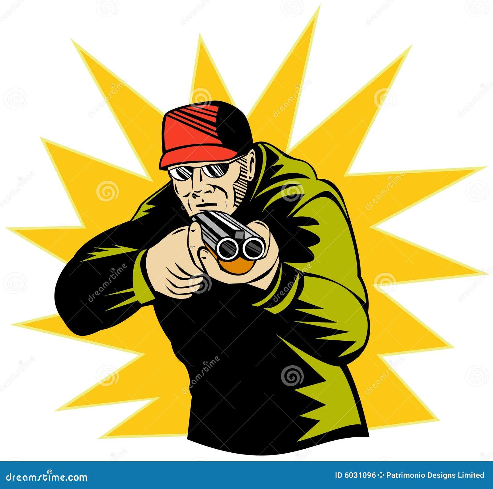 Man Aiming Shotgun At You Royalty Free Stock Image - Image ...