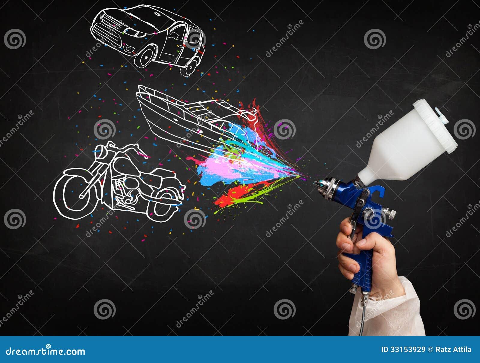 Spray Painting Car Seats