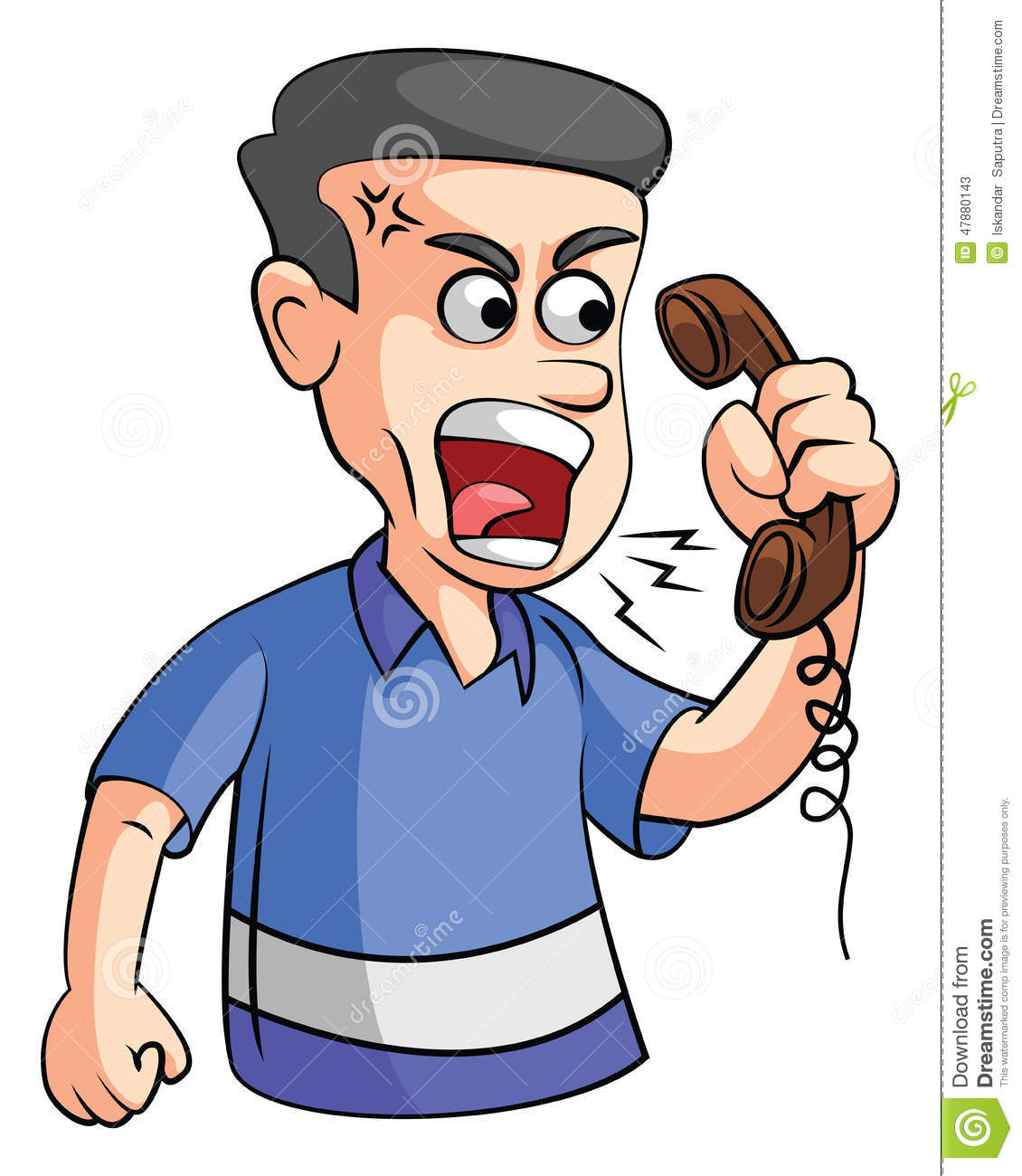 Man Angry on phone stock vector. Image of vector, angry ... Frustrated Person On Phone