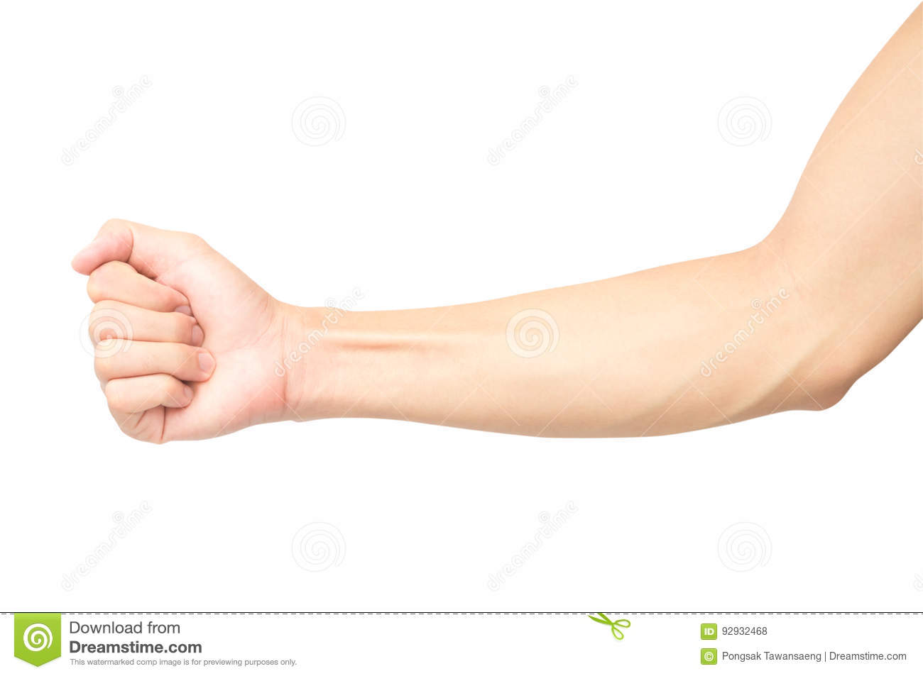 Man Arm With Blood Veins On White Background With Clipping Path ...