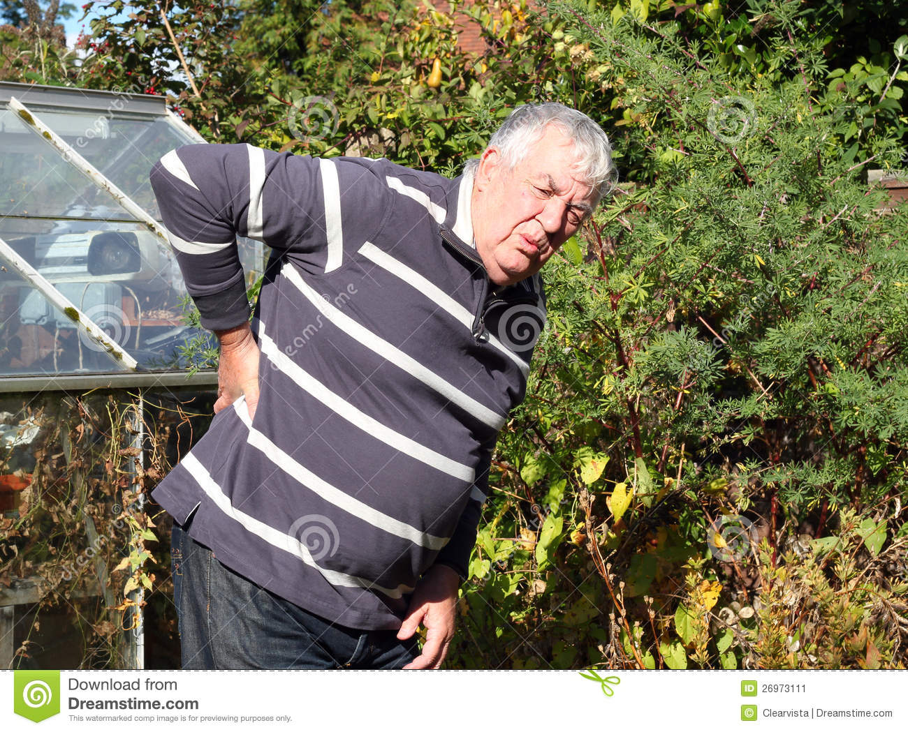 Man Back Ache Or Pain  Stock Image