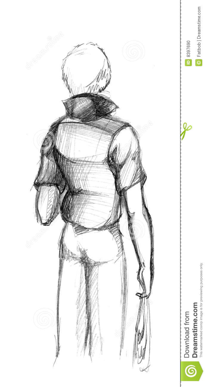 Man Back View Stock Photo - Image: 8397690