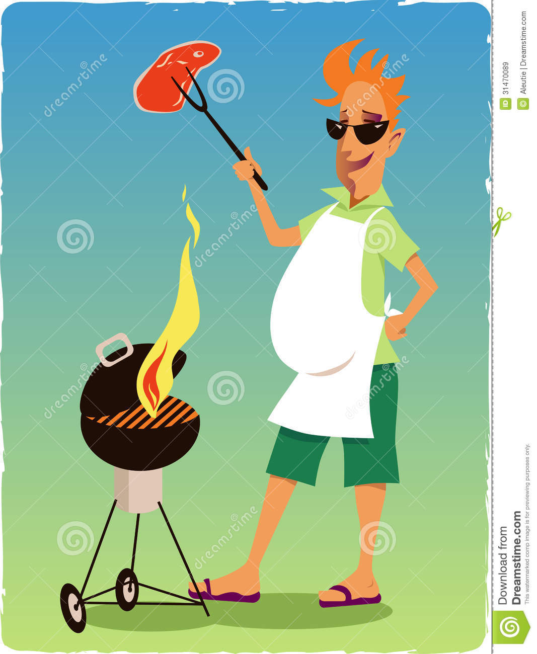 free clipart man grilling - photo #46