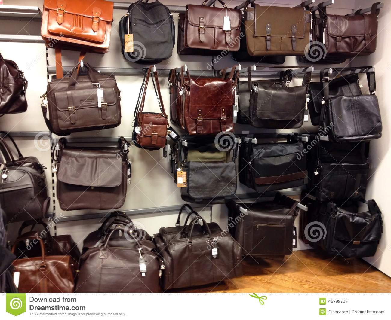 Man Bags, Leather Cases And Holdalls. Editorial Stock Photo ...