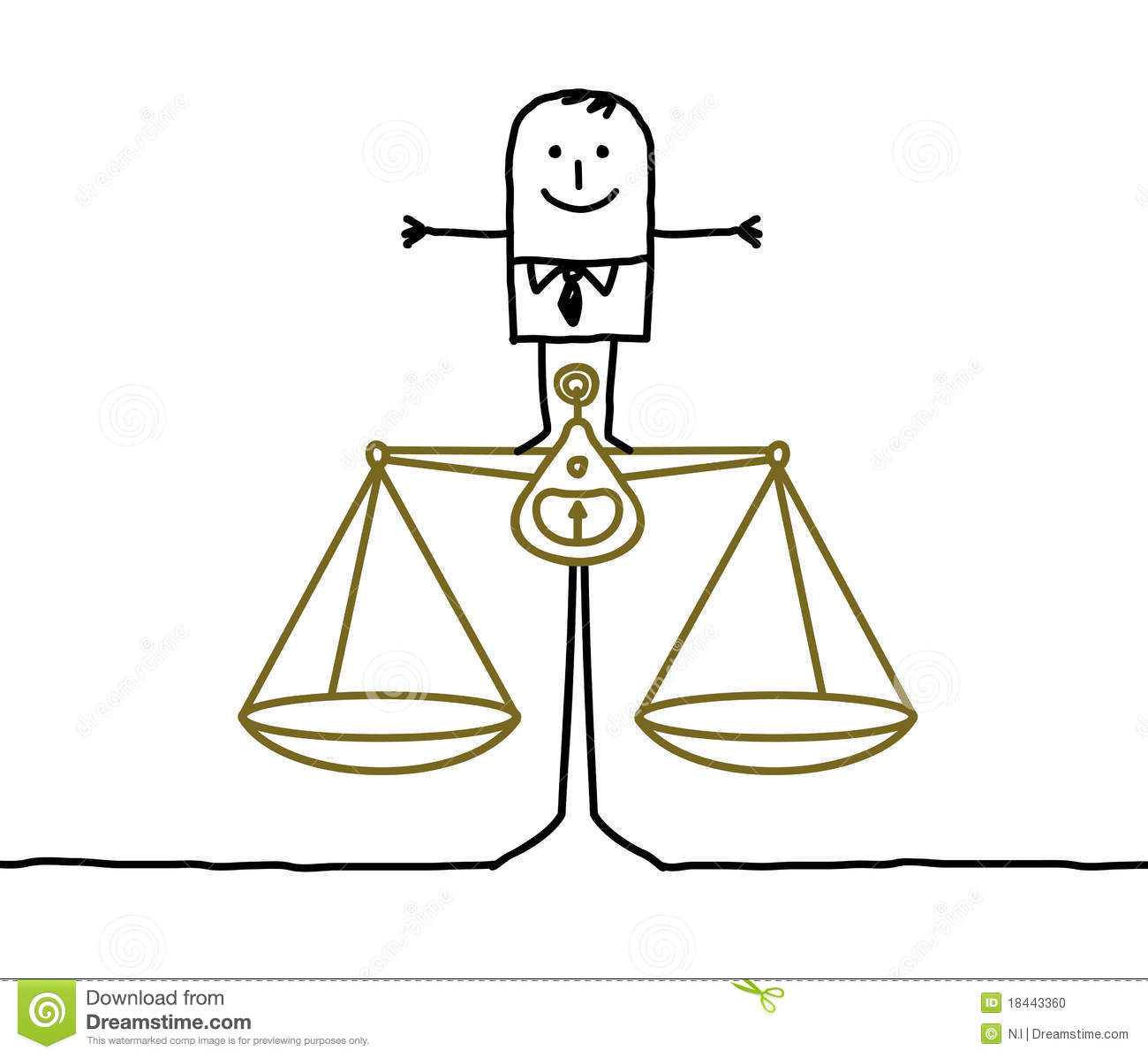 ... Scale Cartoon Man & balance, justice Uneven Balance Scale Clip Art