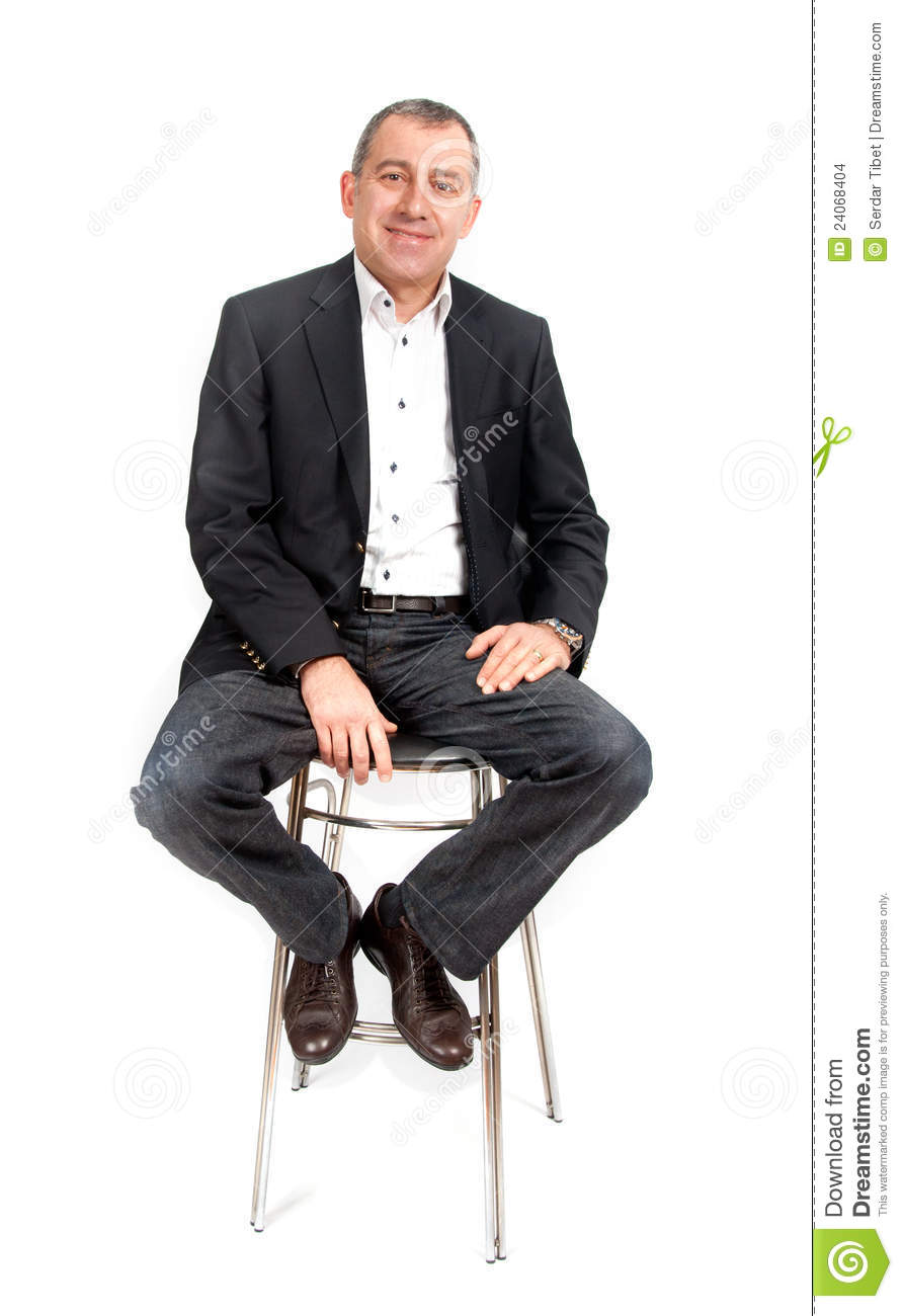 Man On Bar Chair Stock Images Image 24068404