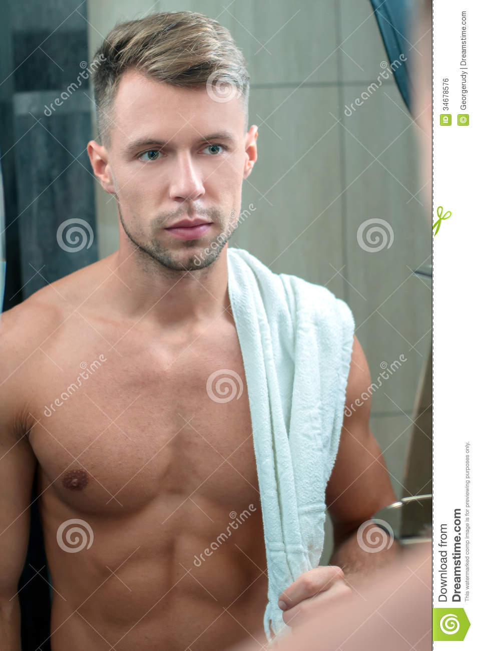 Man in bathroom royalty free stock image image 34678576 for Men in bathrooms