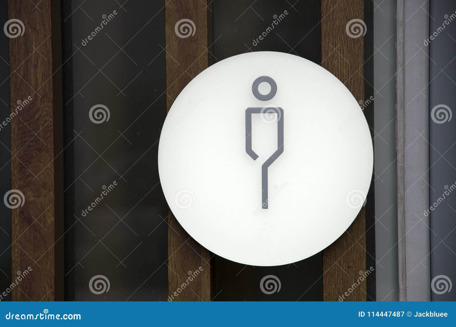 Man Bathroom Sign Toilet Gentleman Stock Image Image Of Bathroom