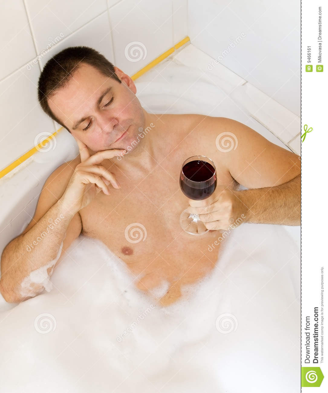 Man In Bathtub Stock Image - Image: 9466161