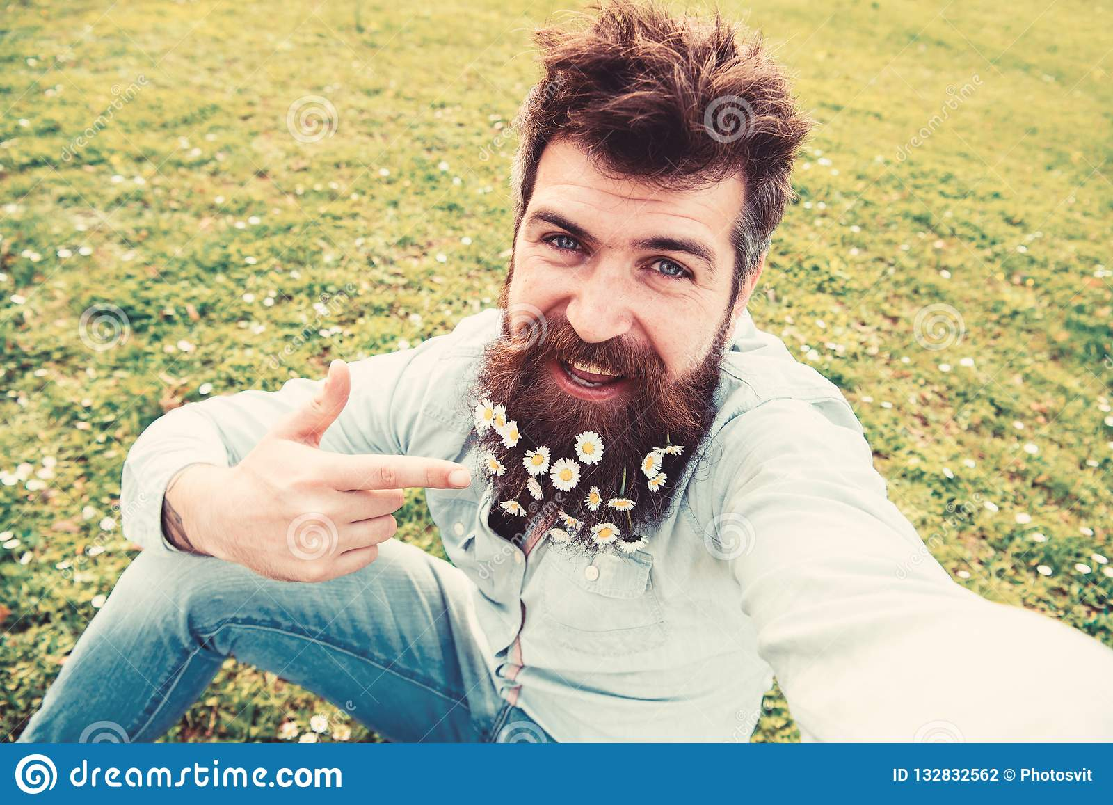 Beard guy selfie with Handsome guy