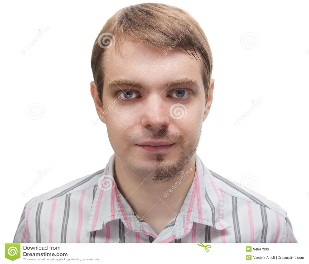 Super Man With A Beard On Half Of The Face Royalty Free Stock Image Short Hairstyles Gunalazisus