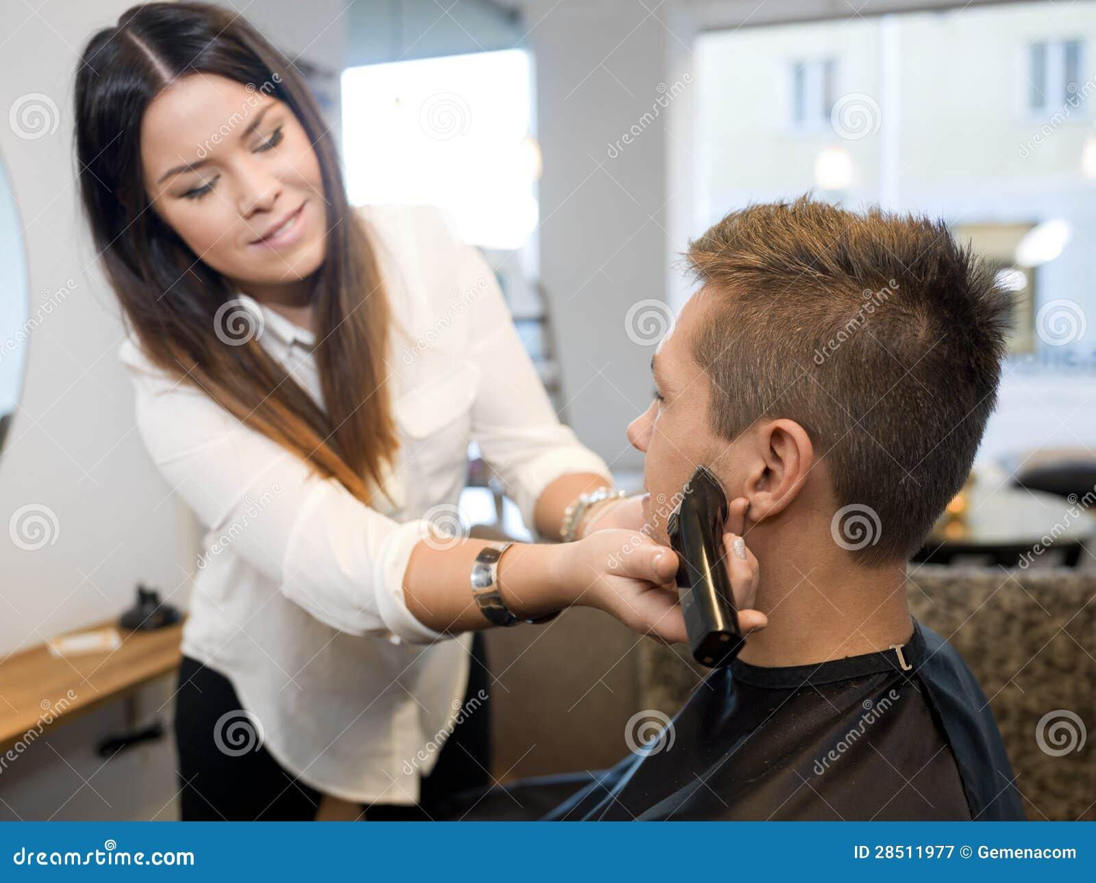 Men Hair Salon : Man In Beauty Salon Royalty Free Stock Photography - Image: 28511977