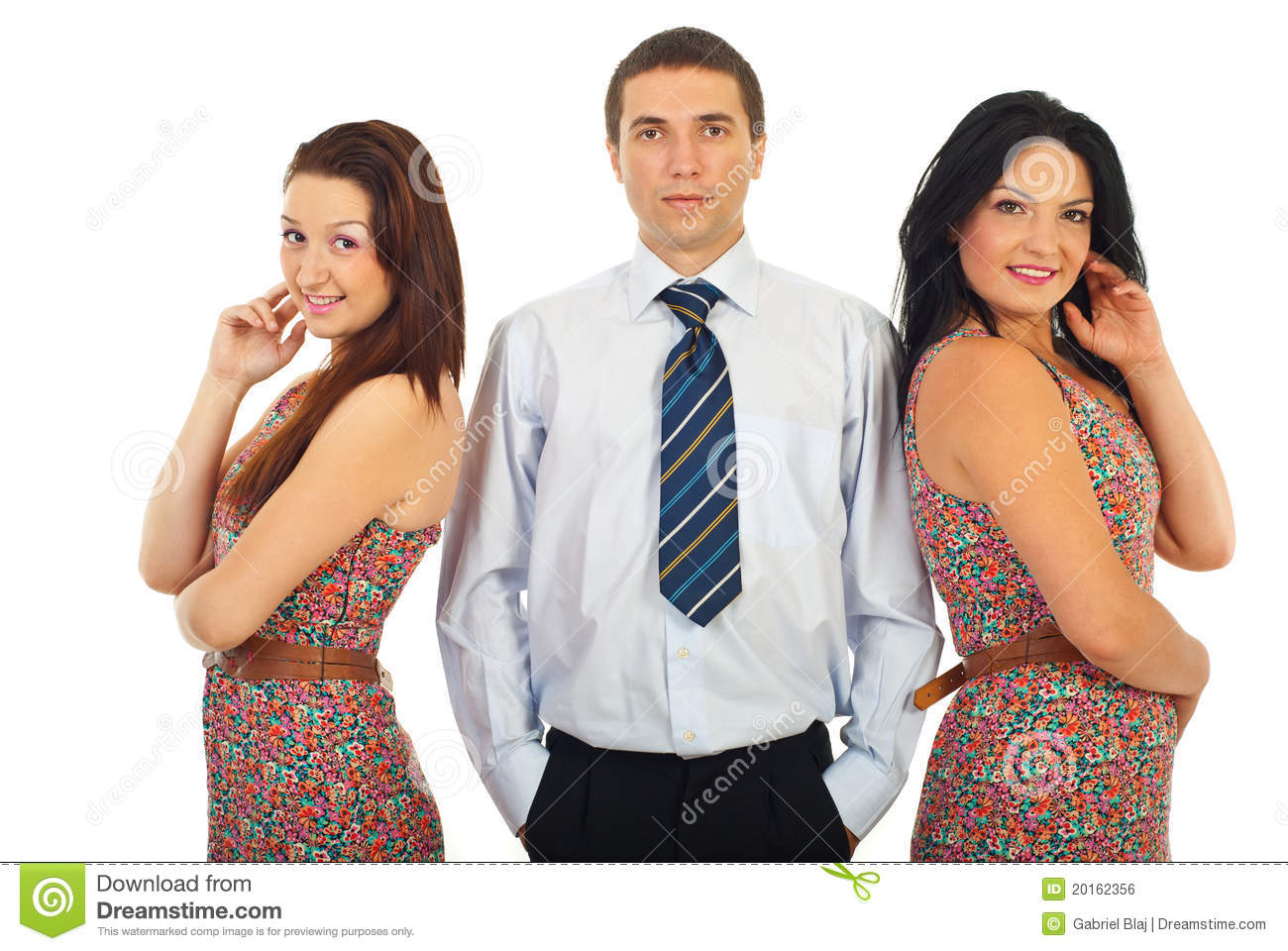 2 women with man Man gets