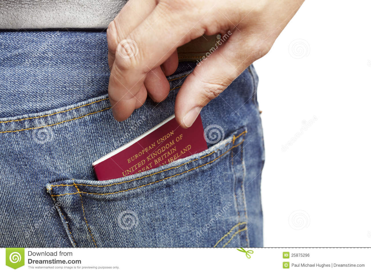 Man Has His Wallet Pickpocketed Stock Photo ...