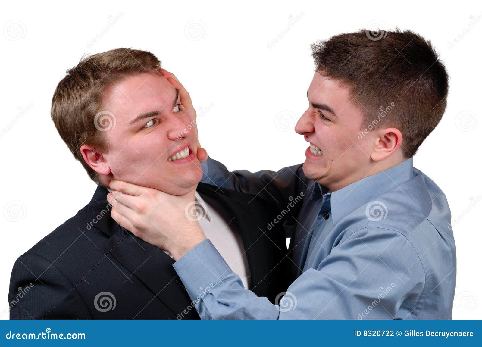 man being strangled stock photography image 8320722
