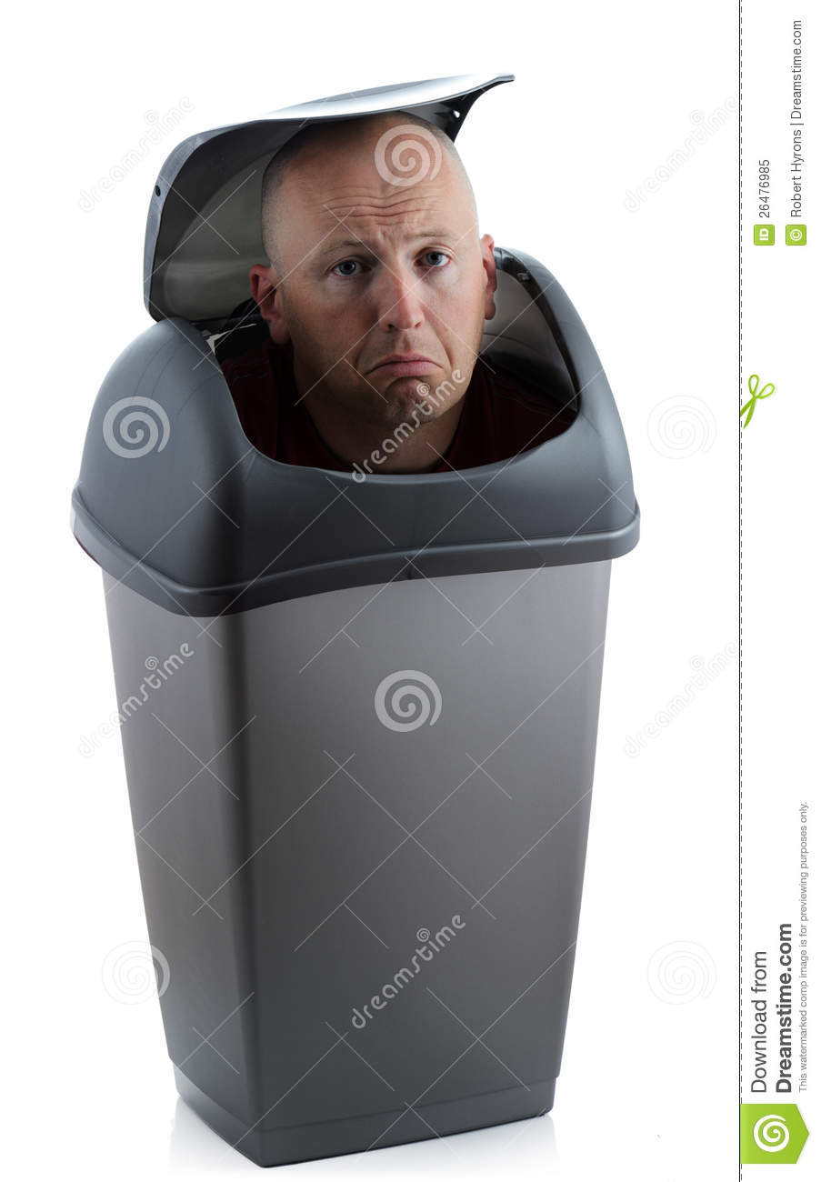 Man In Bin Royalty Free Stock Photo - Image: 26476985
