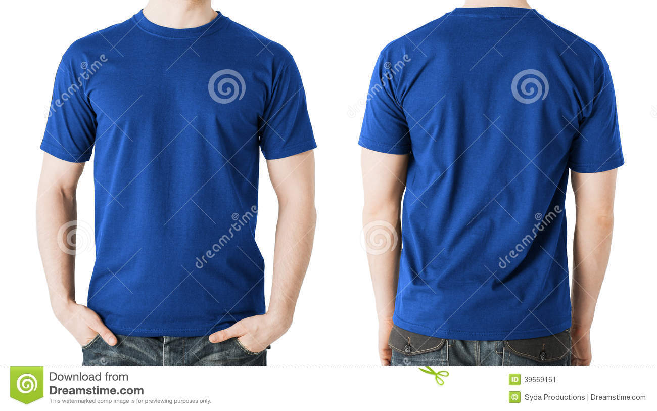 T-Shirt front and back stock photo. Image of clothing - 1958758