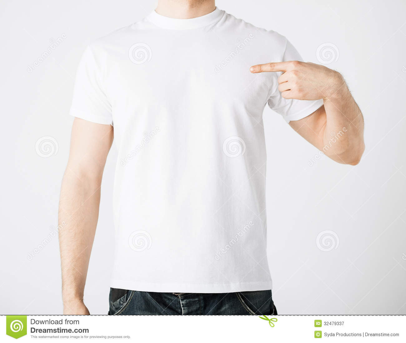 t shirt template with model - man in blank t shirt royalty free stock photography