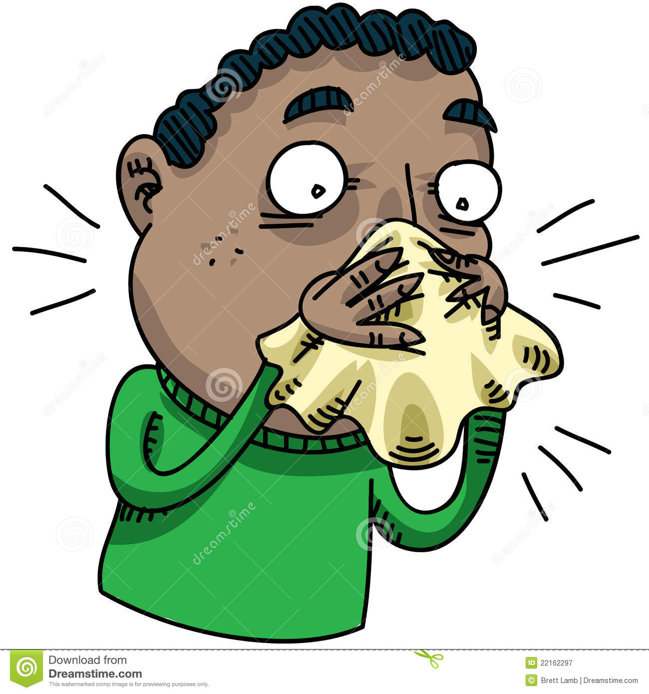 Man Blowing Nose Royalty Free Stock Photography - Image: 22162297