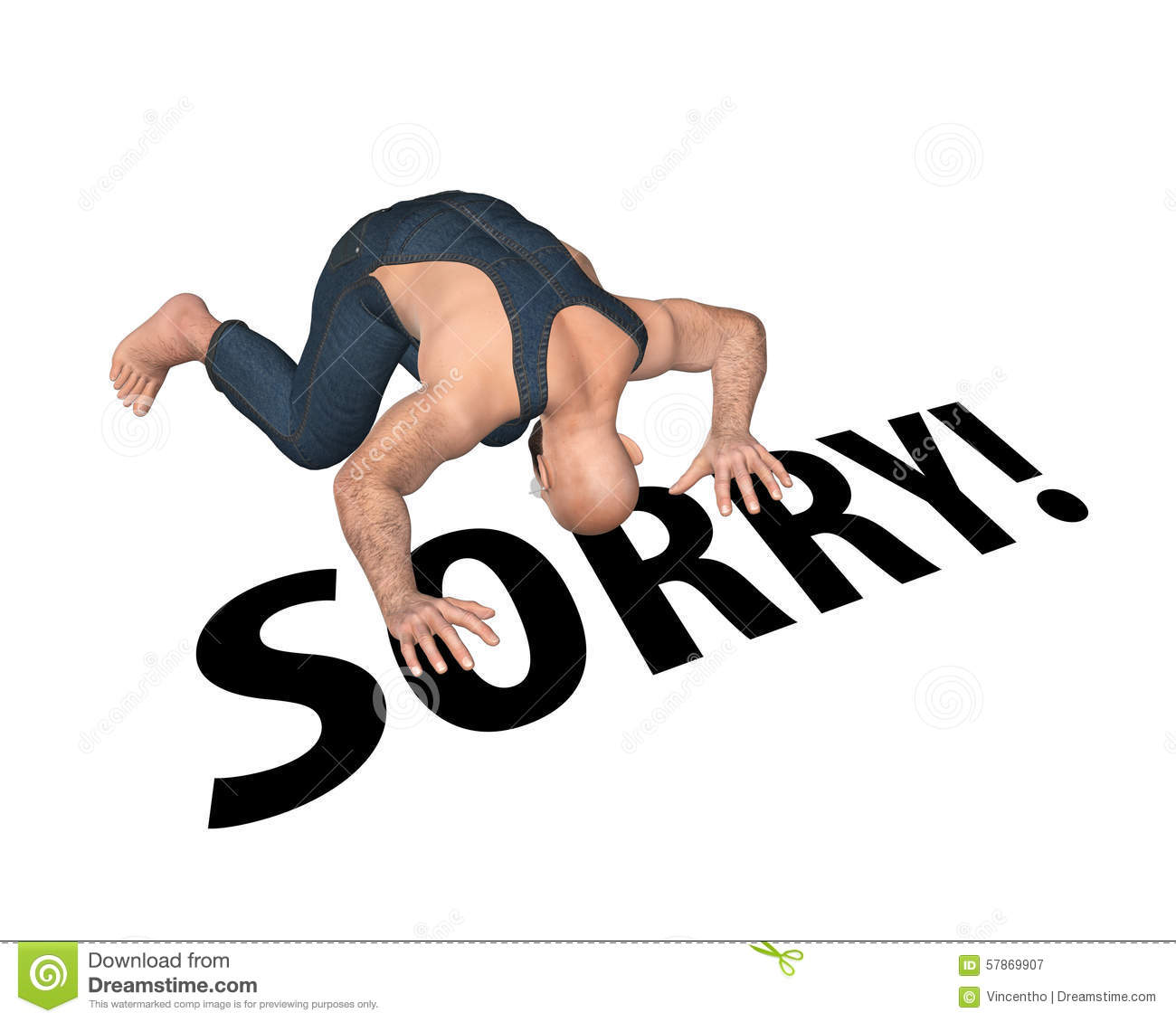 how to stop someone from saying sorry