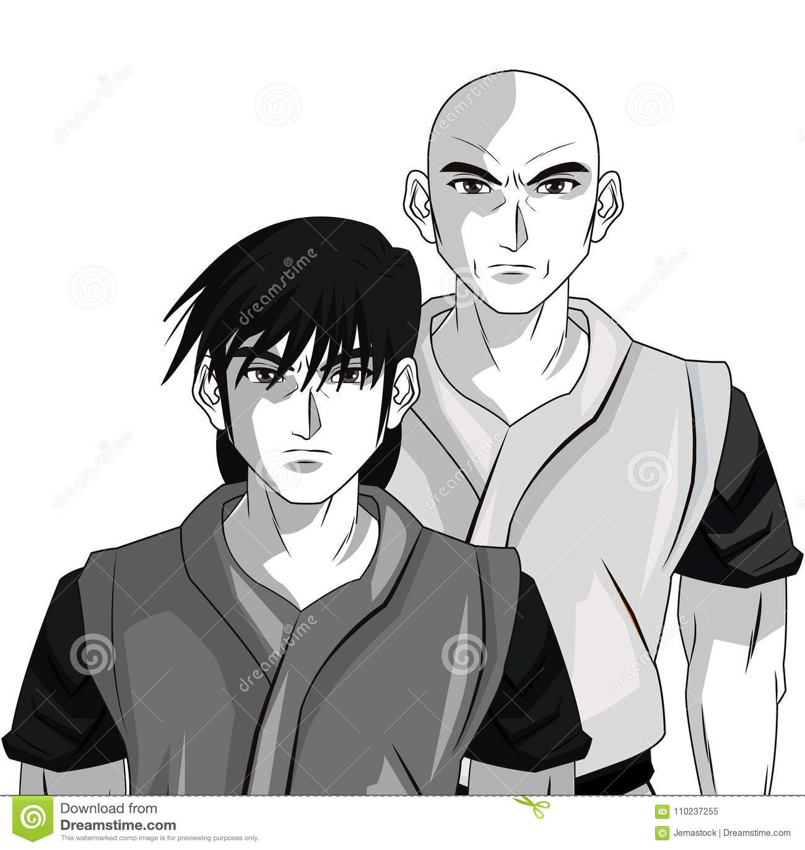 Man boy anime comic design stock vector illustration of