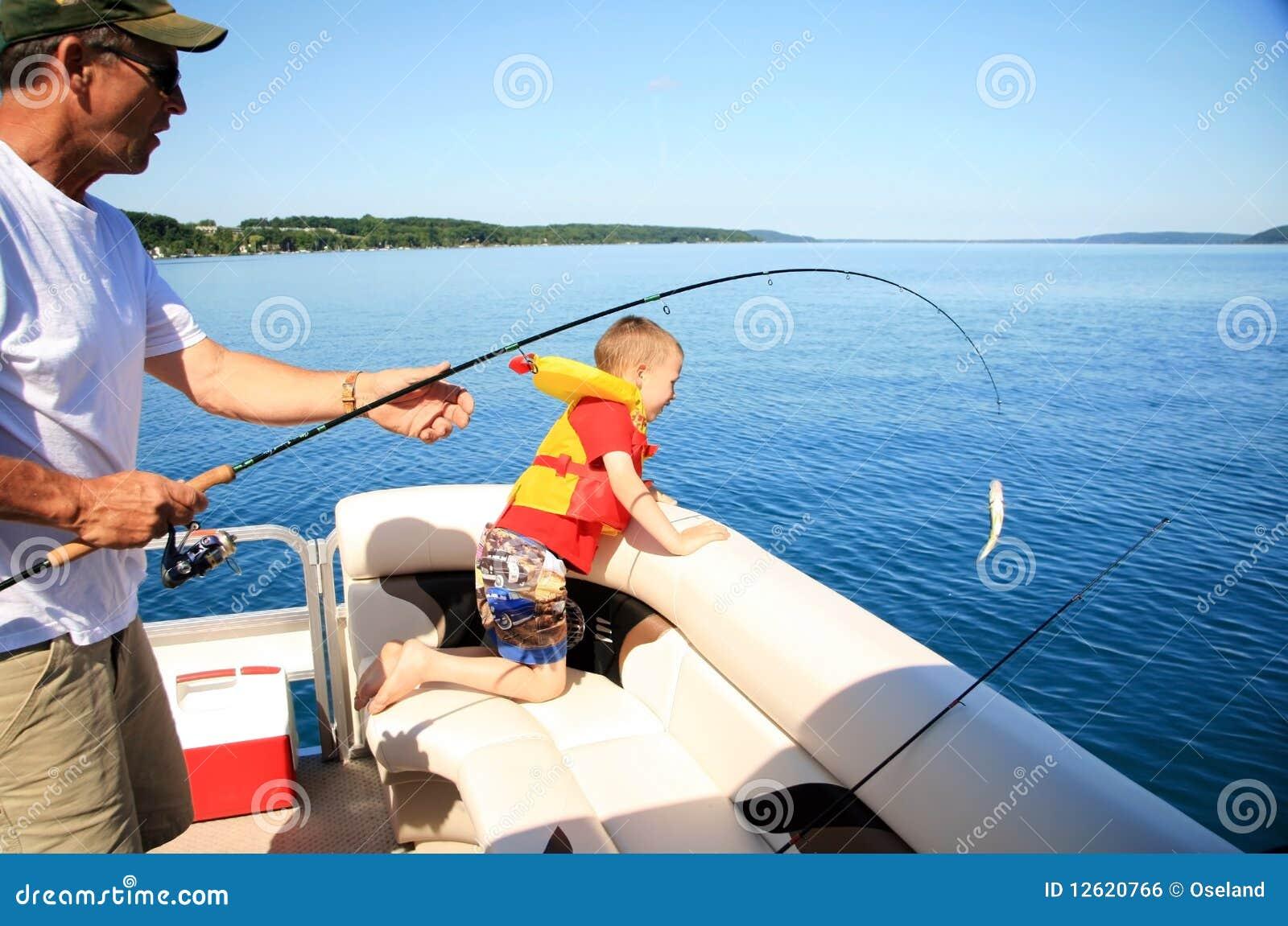 Man and Boy Fishing