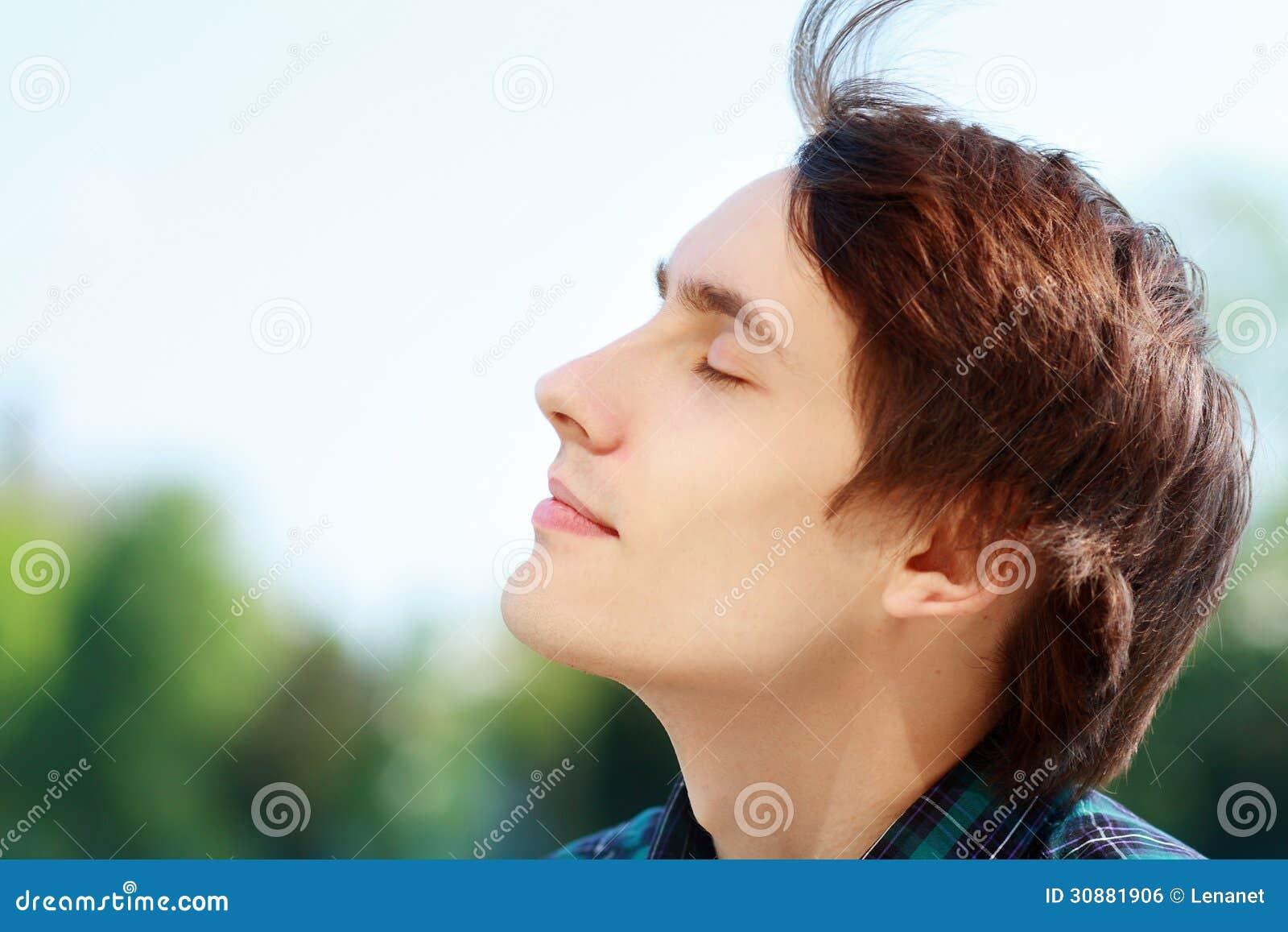 Man Breathing Fresh Air Royalty Free Stock Image Image
