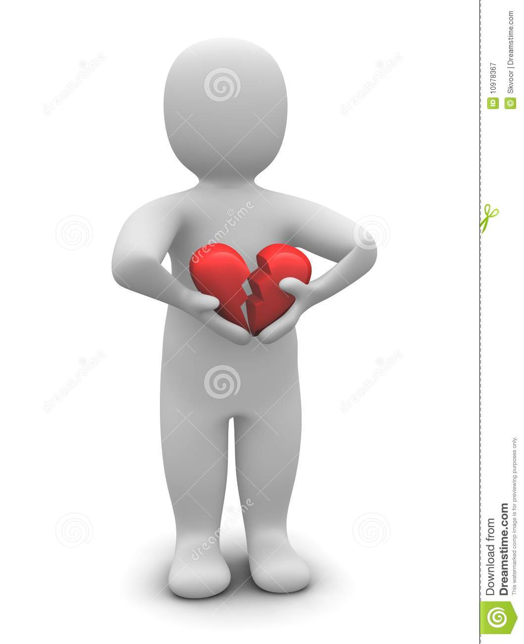 Man With Broken Heart Royalty Free Stock Photography