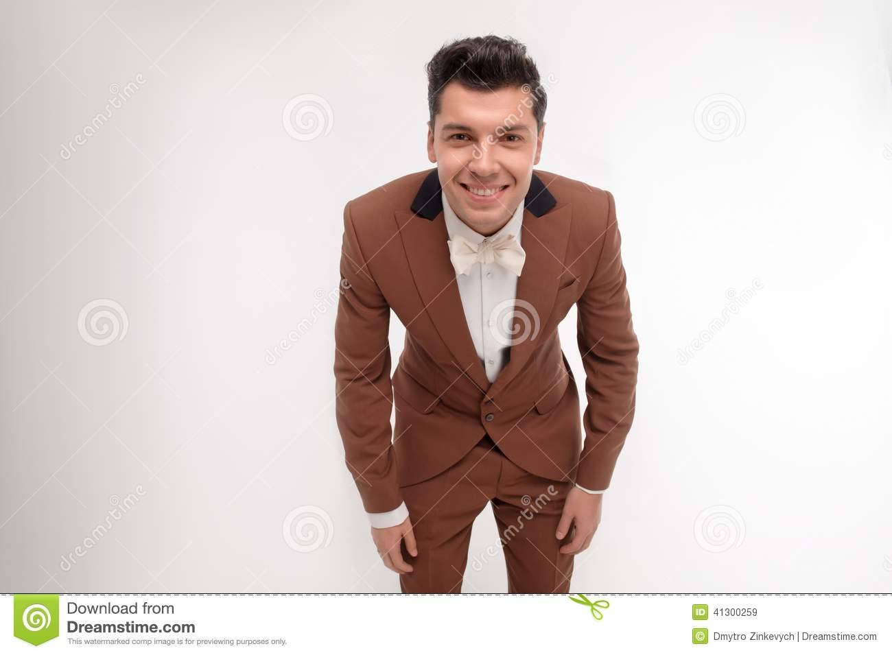 Man In Brown Suit Stock Photo - Image: 41300271