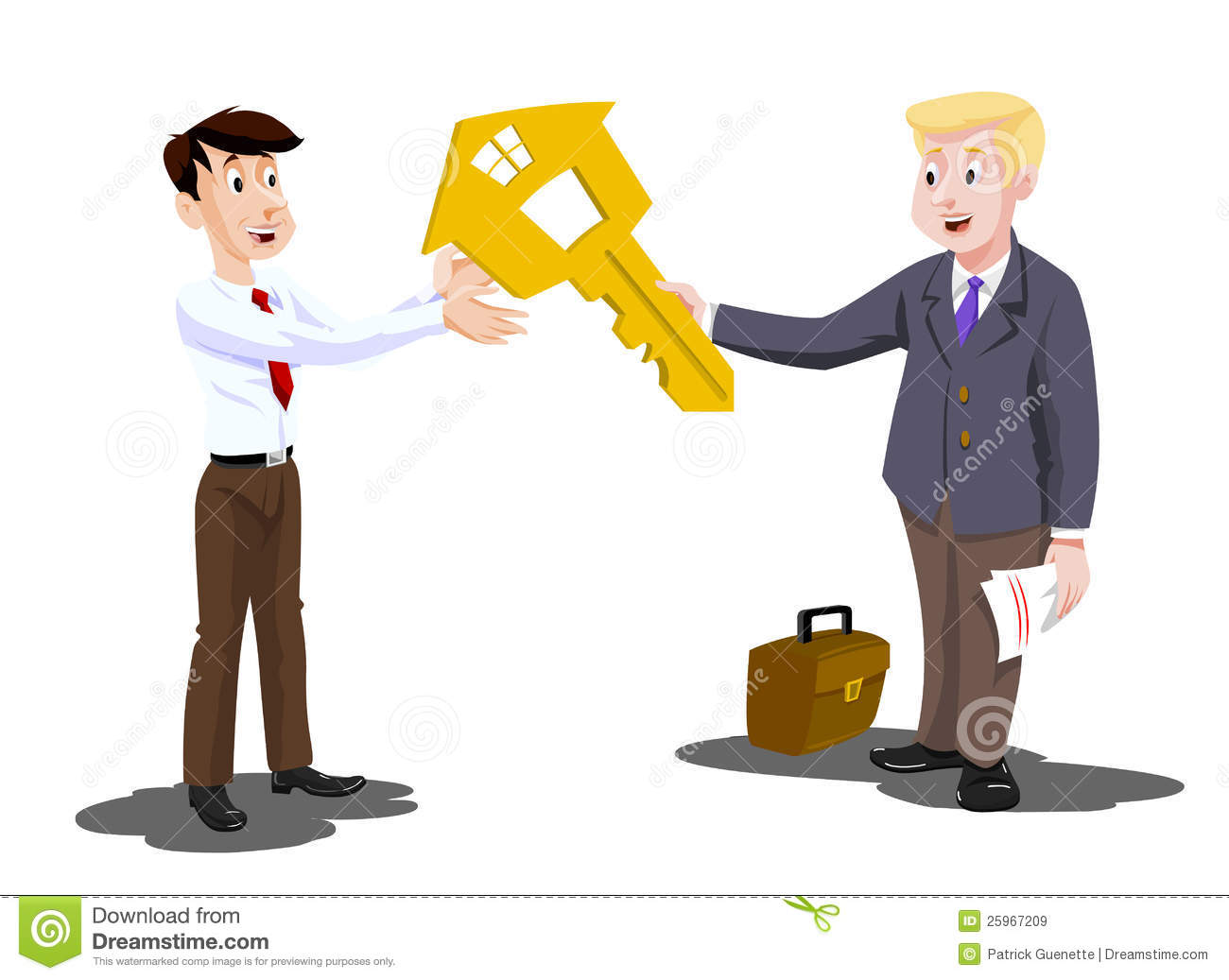 Man Buying A House Illustration Stock Vector Illustration Of Living Payment 25967209