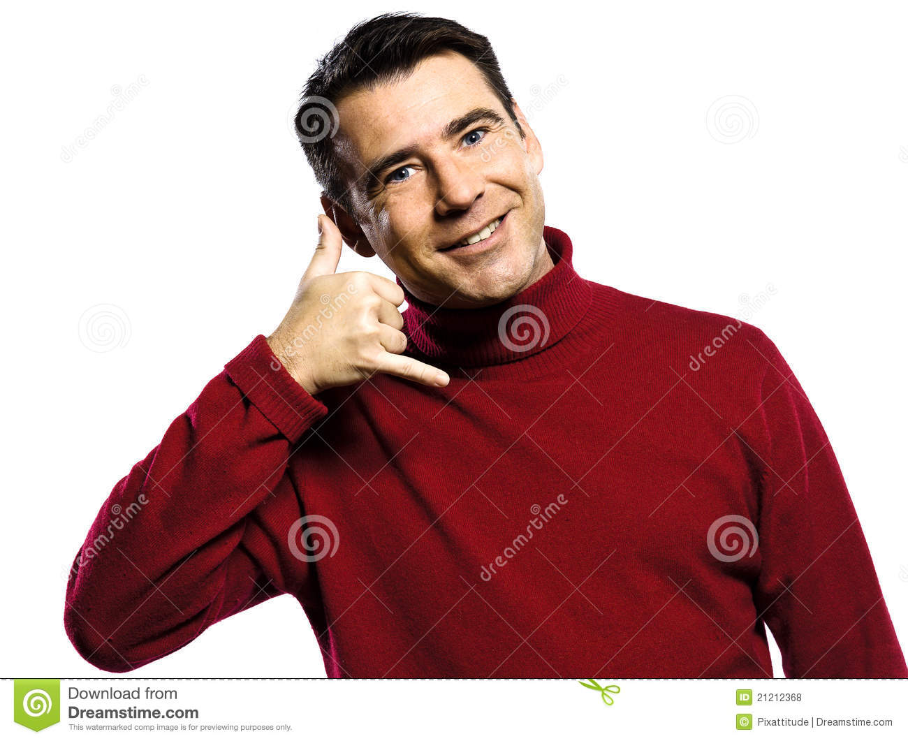 Man Call Me Gesture Royalty Free Stock Photos - Image ...