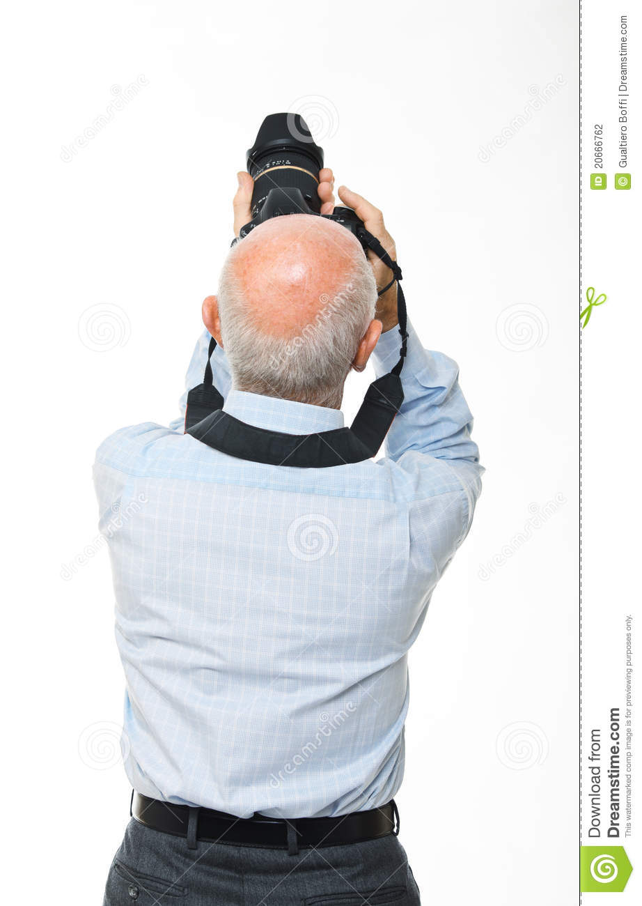 Man With Camera Back View Stock Photography Image 20666762
