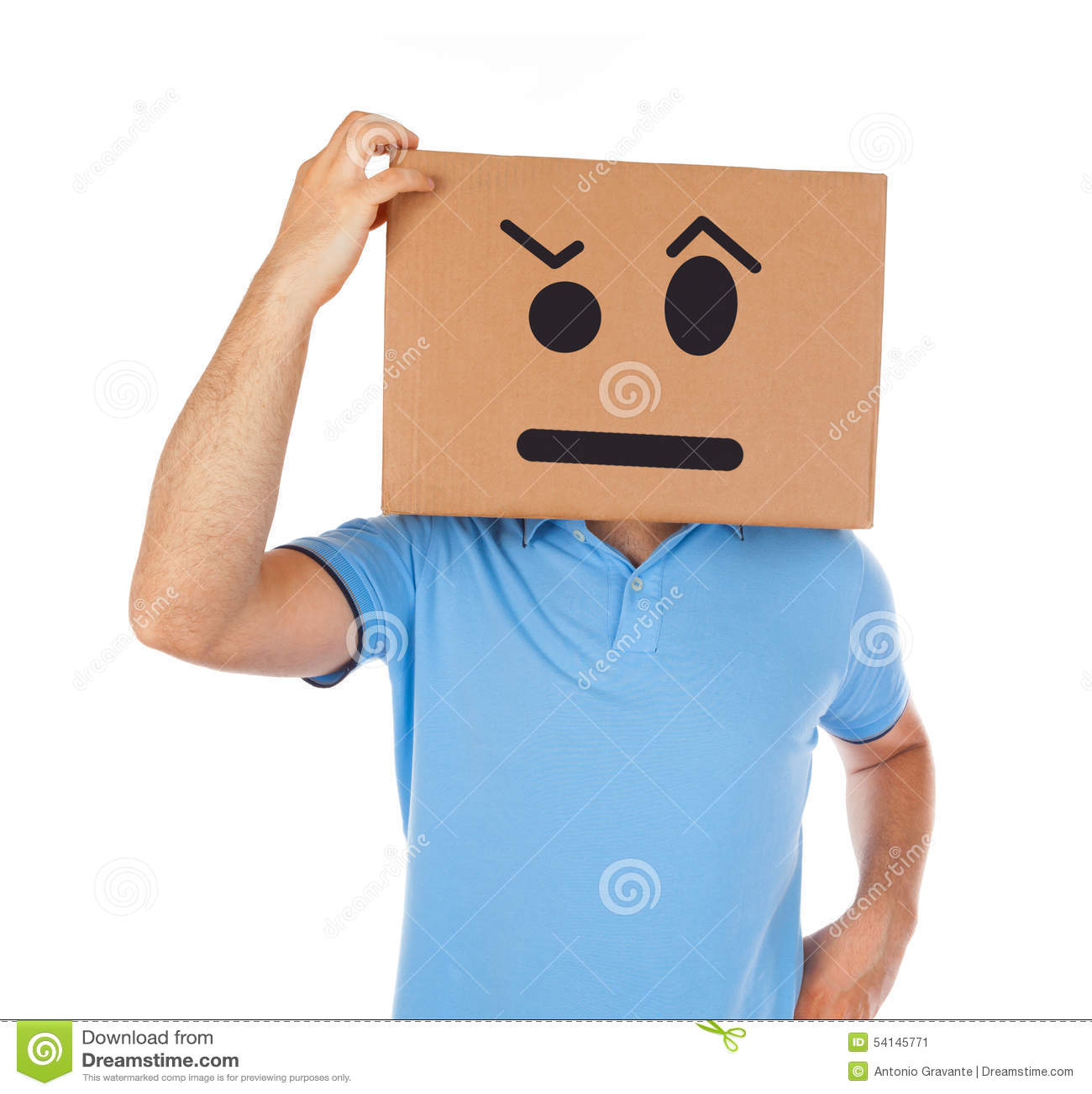 Box Head Man