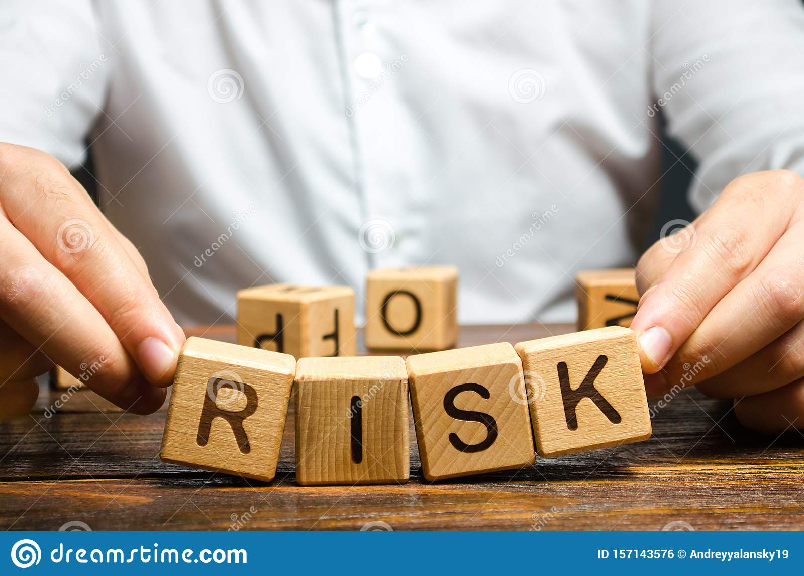 The Man Carelessly Raises The Word Risk. High Risks In