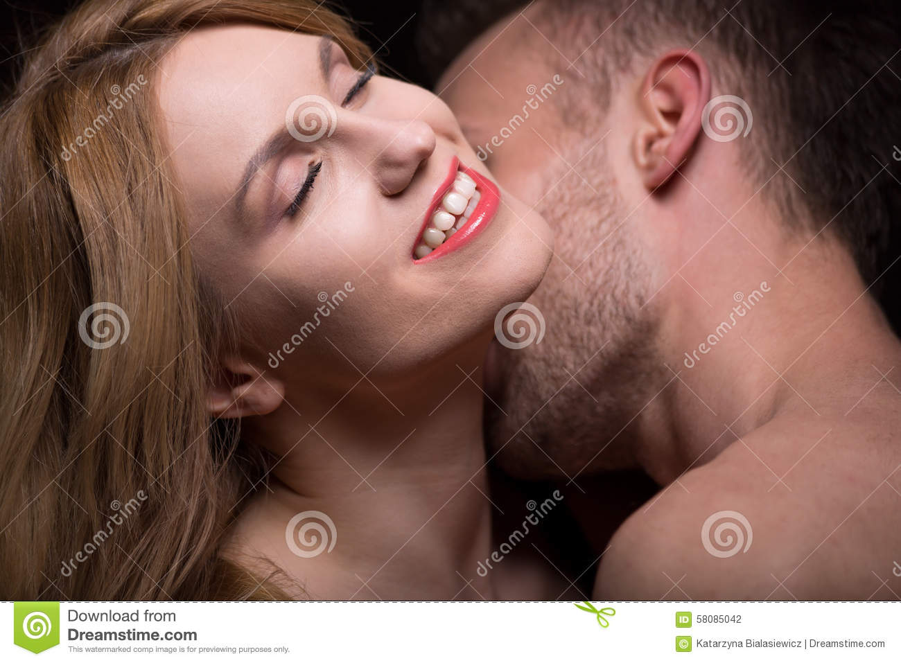naughty pics of women kissing mens necks