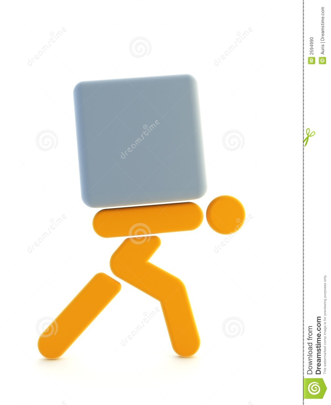 Man Carrying The Load Stock Photo Image 2594990