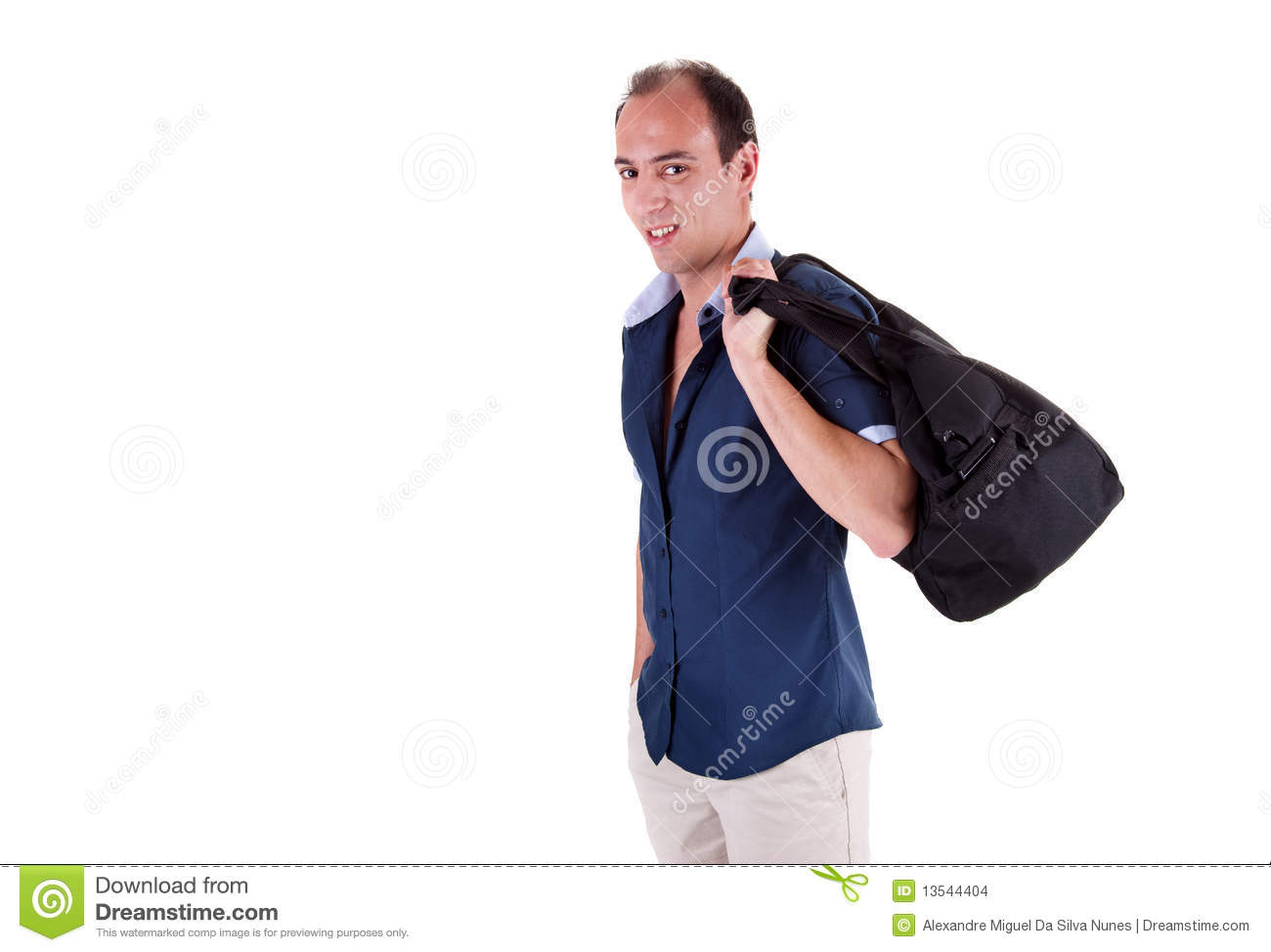 Man Carrying A Travel Bag Stock Images Image 13544404