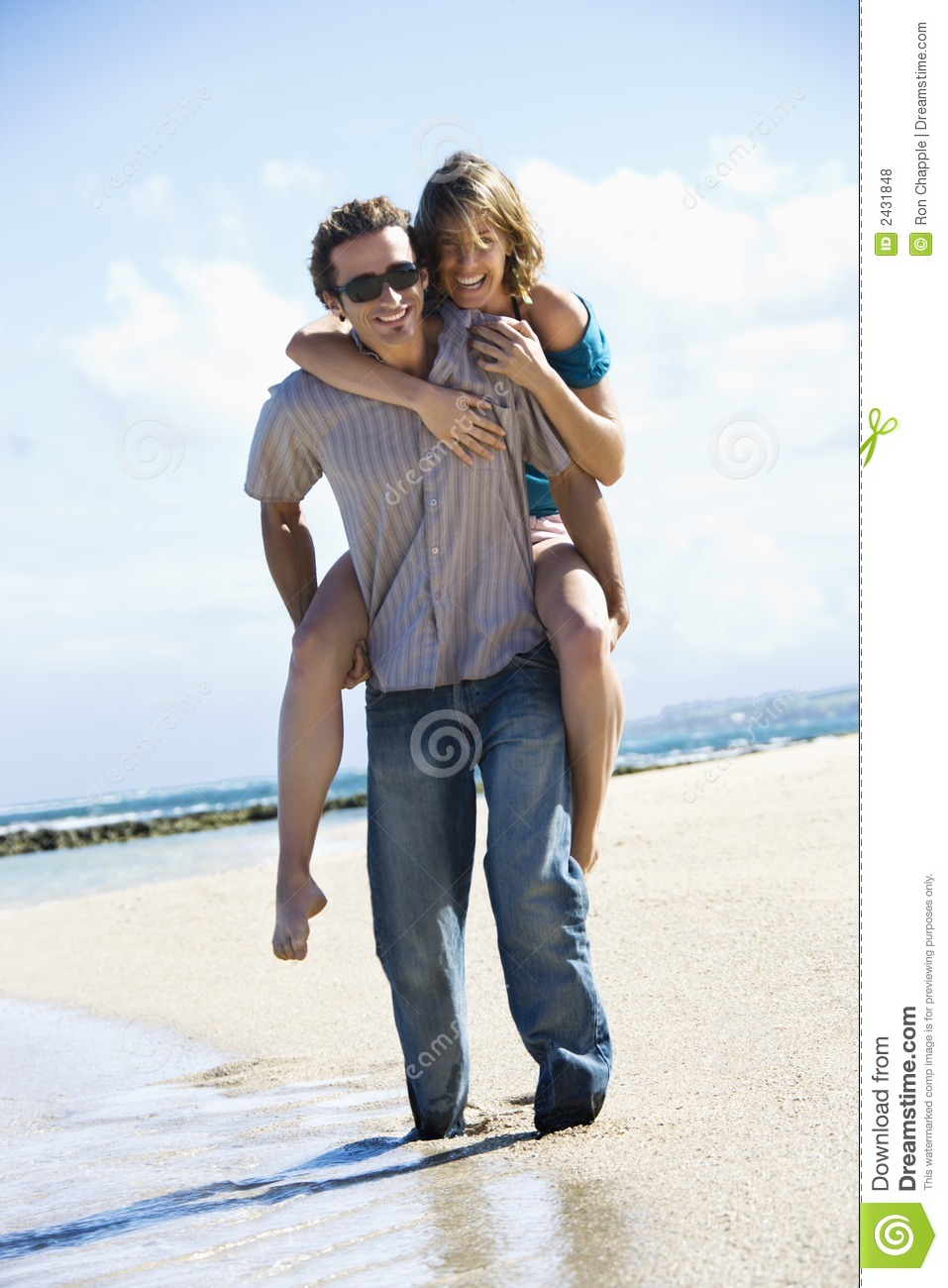 Stock photo portrait of young man on beach male models picture