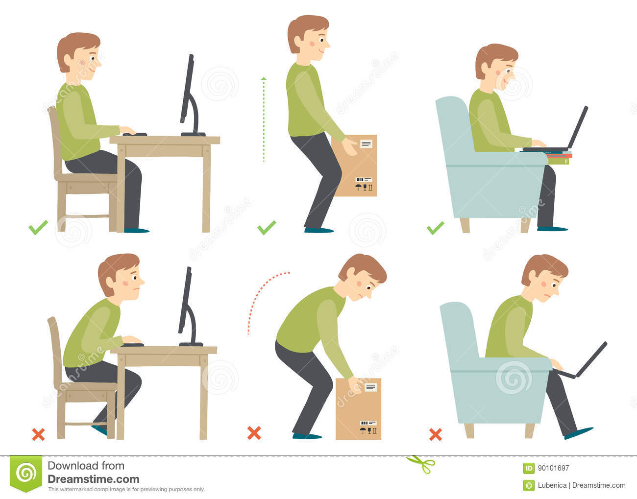 how to sit in front of computer