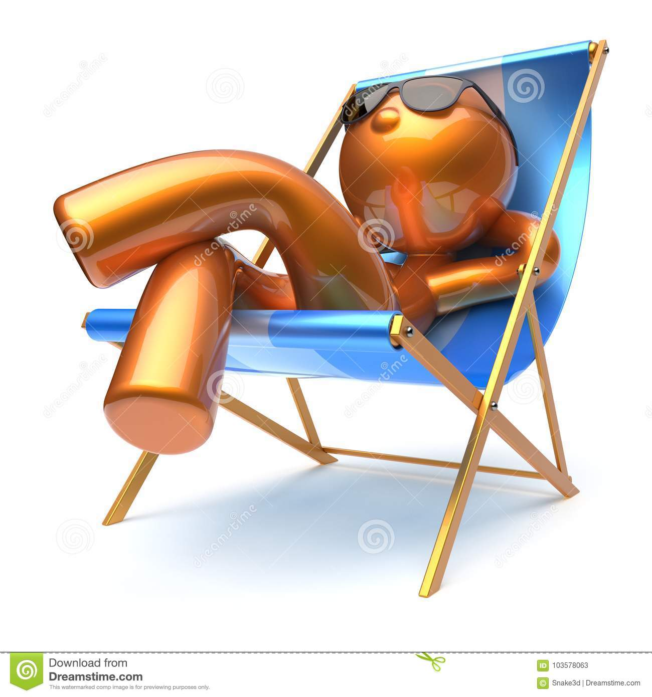 Prime Man Cartoon Character Relaxing Beach Deck Chair Harmony Squirreltailoven Fun Painted Chair Ideas Images Squirreltailovenorg