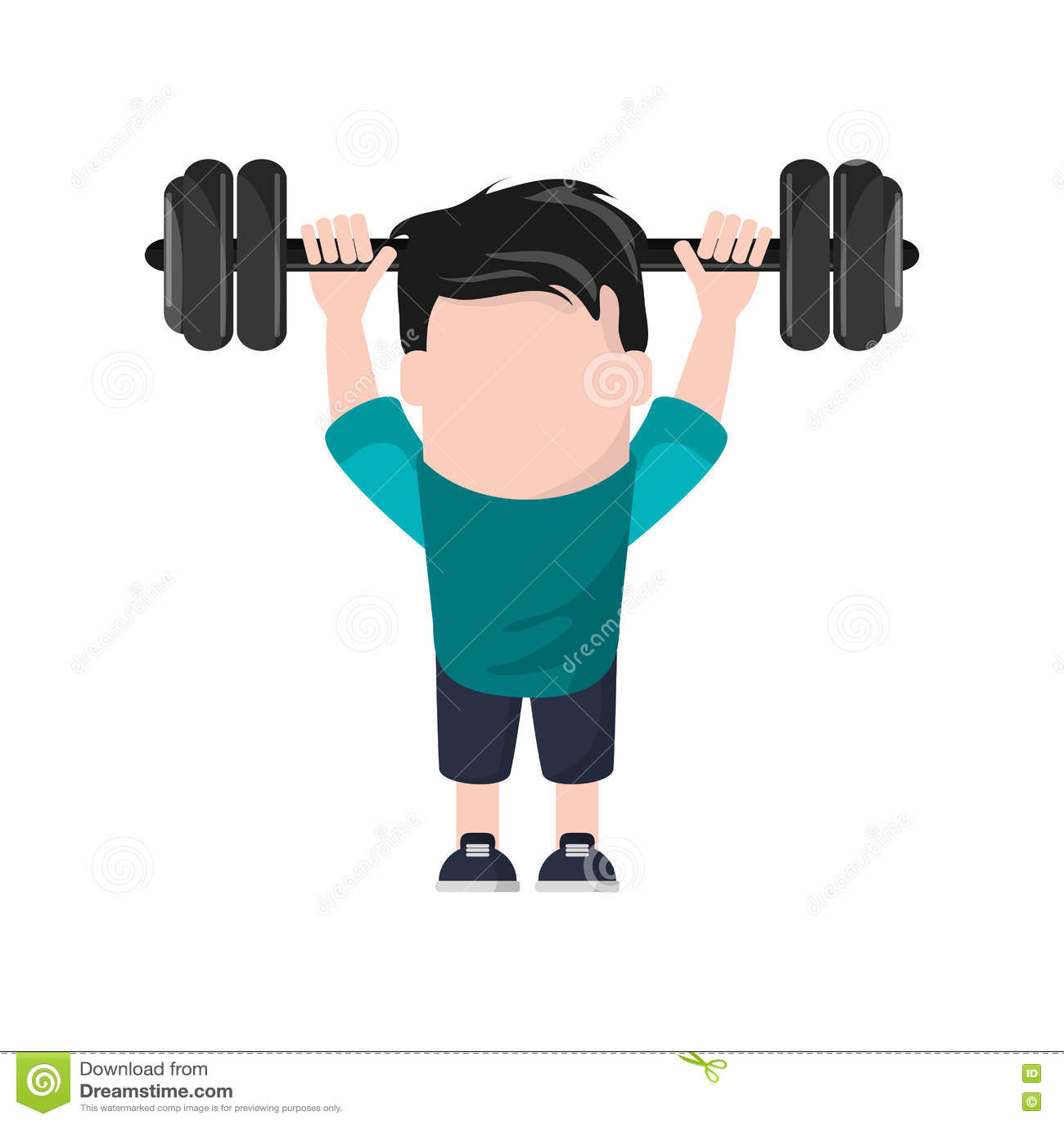 Gym Muscle Bodybuilding Black Mesh Fitness Power Lifting: Weight Lifting And Bodybuilding Vector Illustration