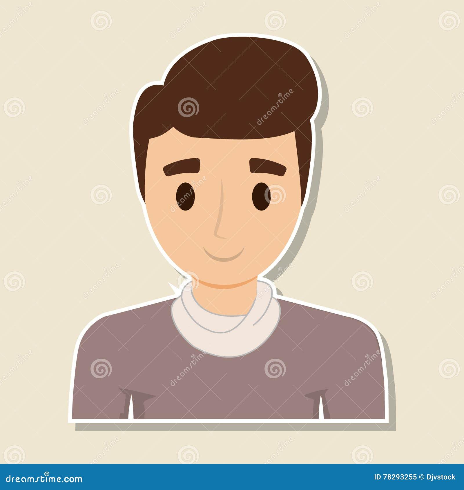 man cartoon person design stock vector illustration of success