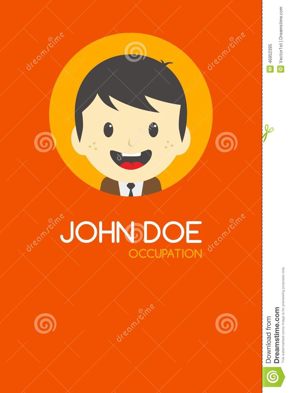 Man Cartoon Theme Business Card Stock Vector - Illustration of ...