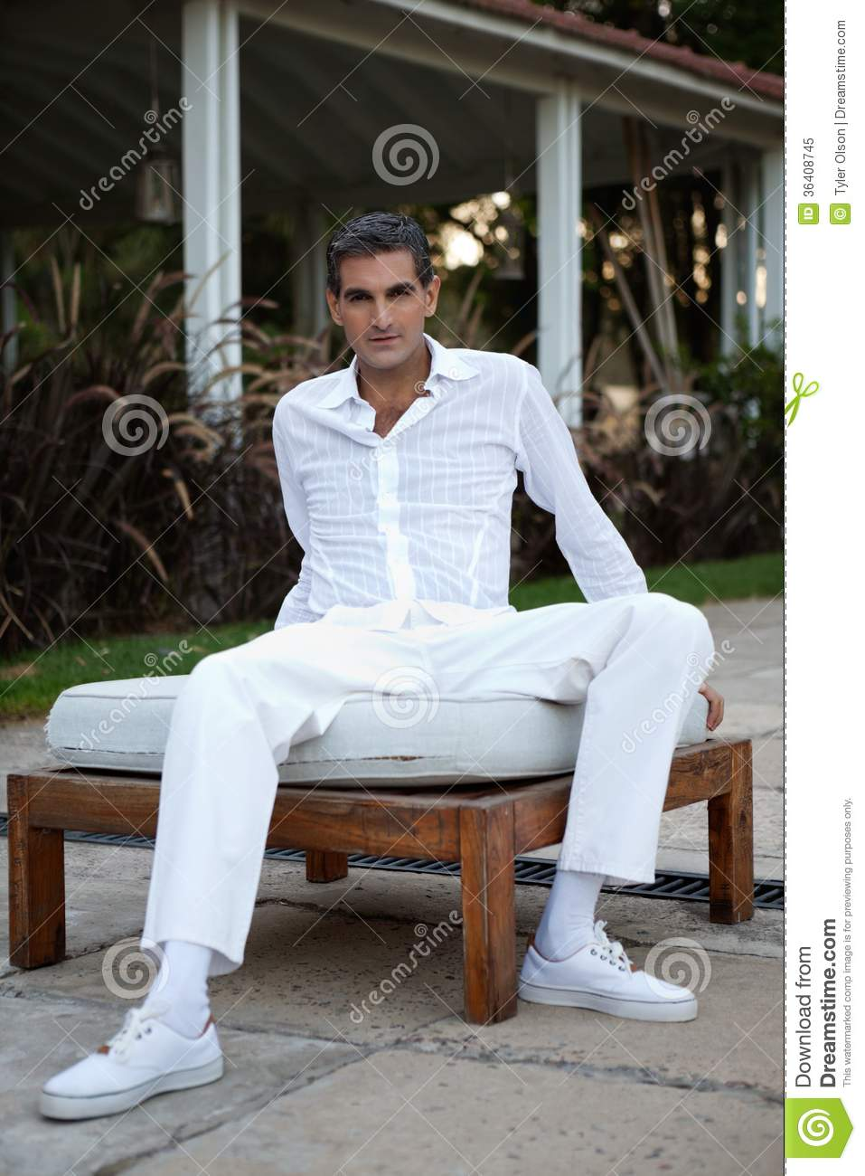 Man In Casual Style Clothing Stock Image Image Of