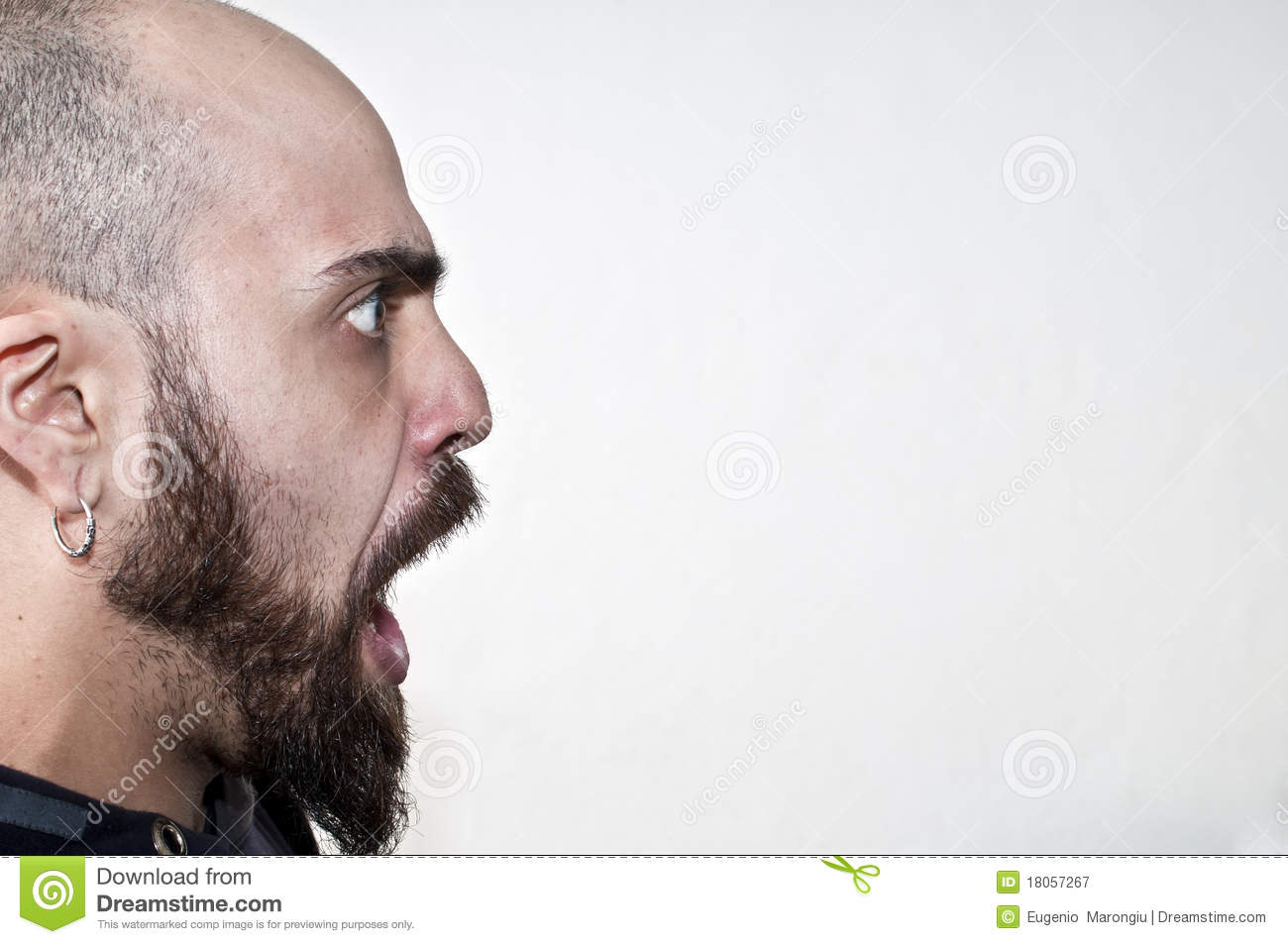 Man Caught With His Mouth Open Royalty Free Stock Photography Image 18057267